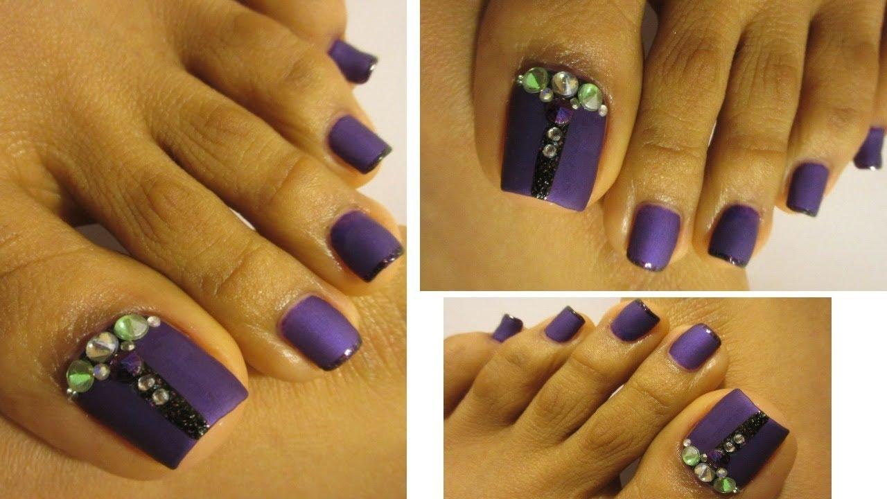 Morado El Color Del Ano Unas Decoradas De Los Pies Purple Color