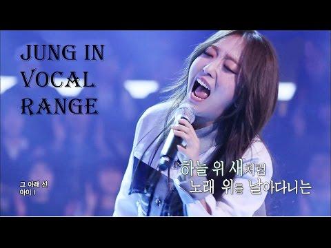 Jung In - 정인 - Vocal range (C3 - Bb5 - C#6)