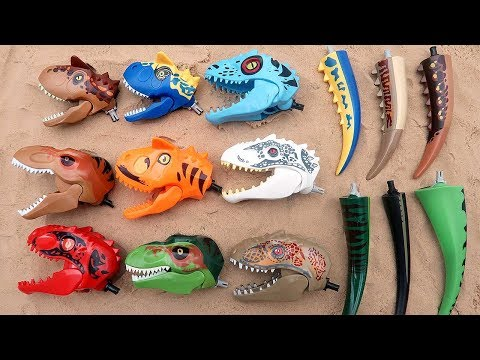 12 Dinosaur Heads Lego Toys! Learn Dinosaurs For Kids 혼종 공룡 레고