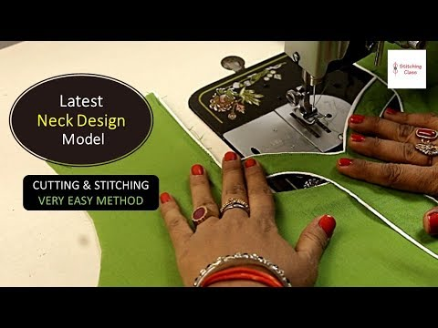 Latest Neck design Cutting and Stitching Step by Step Method, Neck design for kameez, / Suit / Kurti