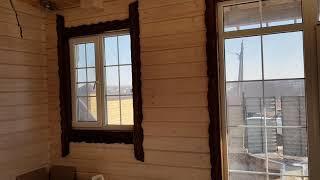 Деревянные обналичники под старину на окна компании ...Мир Навесов...