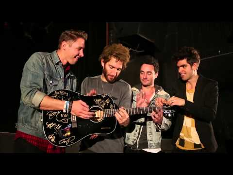 Ones to Watch - The Skype Six - Smallpools sign The Skype Six guitar