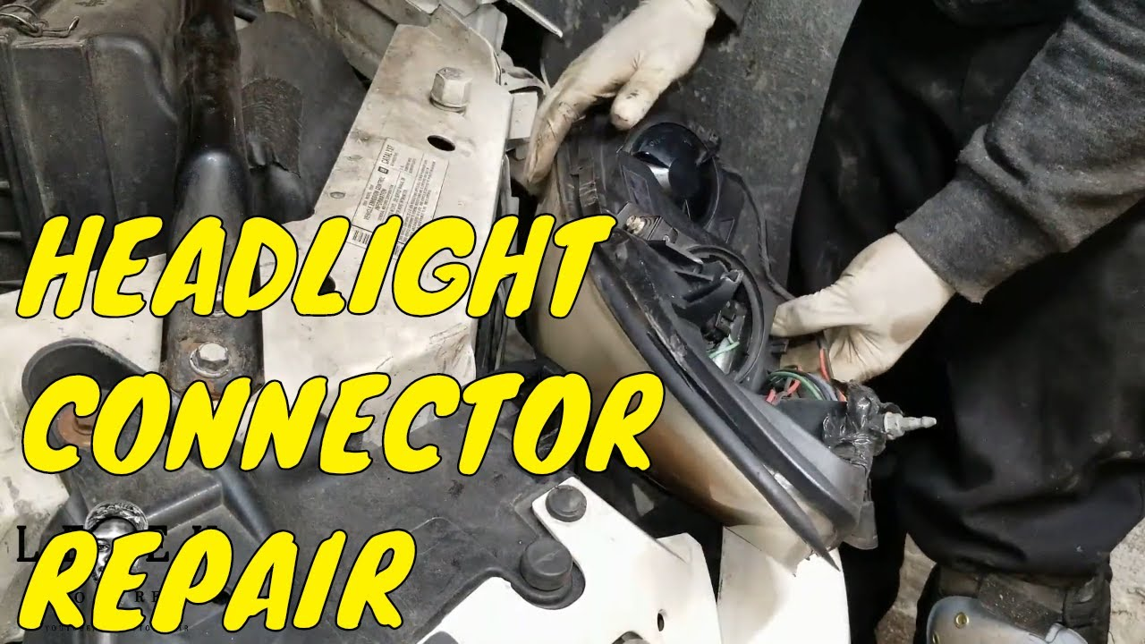 pontiac headlight socket wiring diagram how to replace headlight connector 2006 2013 chevy impala youtube  how to replace headlight connector