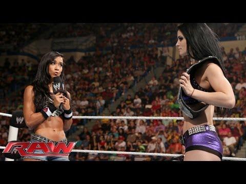 Paige vs. AJ Lee - Divas Championship Match: Raw, June 30, 2014