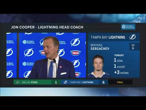 Jon Cooper -- Tampa Bay Lightning vs. Dallas Stars 11/16/2017
