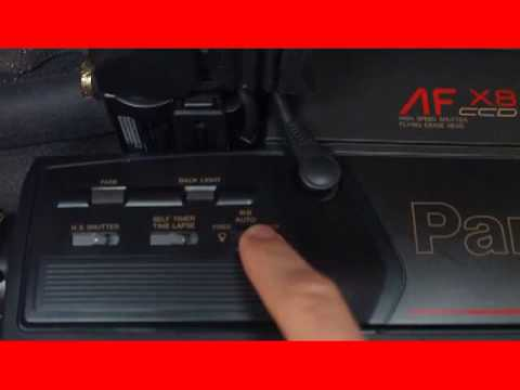 1988 Panasonic Full Size Vhs Camcorder Overview Youtube
