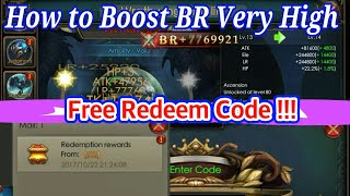 How To Boost BR very High, And Free Redeem Code 2017!! Legacy of Discord