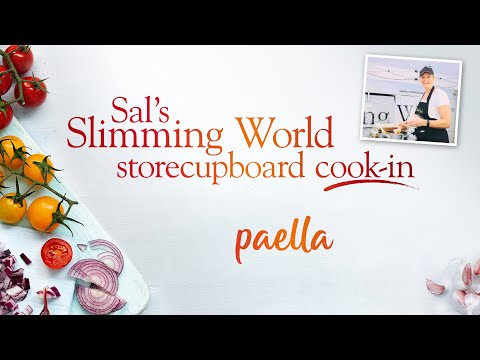 Sal's Slimming World Storecupboard cook-in Ep10 – Syn free vegetable paella!