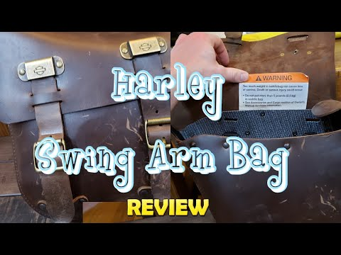 2018 Harley Davidson Swing Arm Bag Brown for 18 Fatbob
