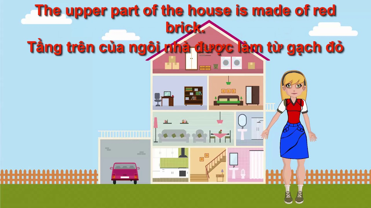 Luyện nghe tiếng Anh qua những mẫu truyện ngắn   Bài 70   My house   Căn nhà của tôi