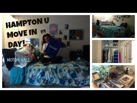 HAMPTON U VLOG 1: FRESHMAN MOVE IN DAY