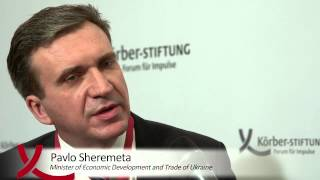 Interview with Pavlo Sheremeta at the Berlin Foreign Policy Forum 2014