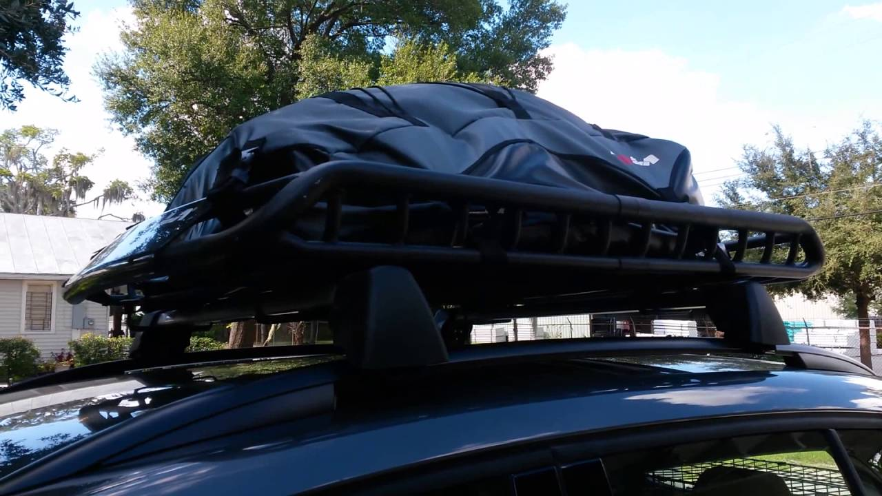 2016 Vw Tiguan With Roof Rack Basket And Cargo Bag Youtube