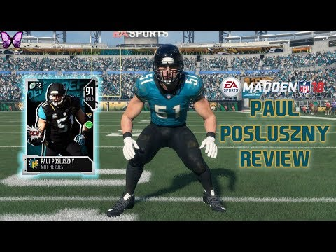 MUT HEROES PAUL POSLUSZNY REVIEW | Madden 18 Player Reviews☆