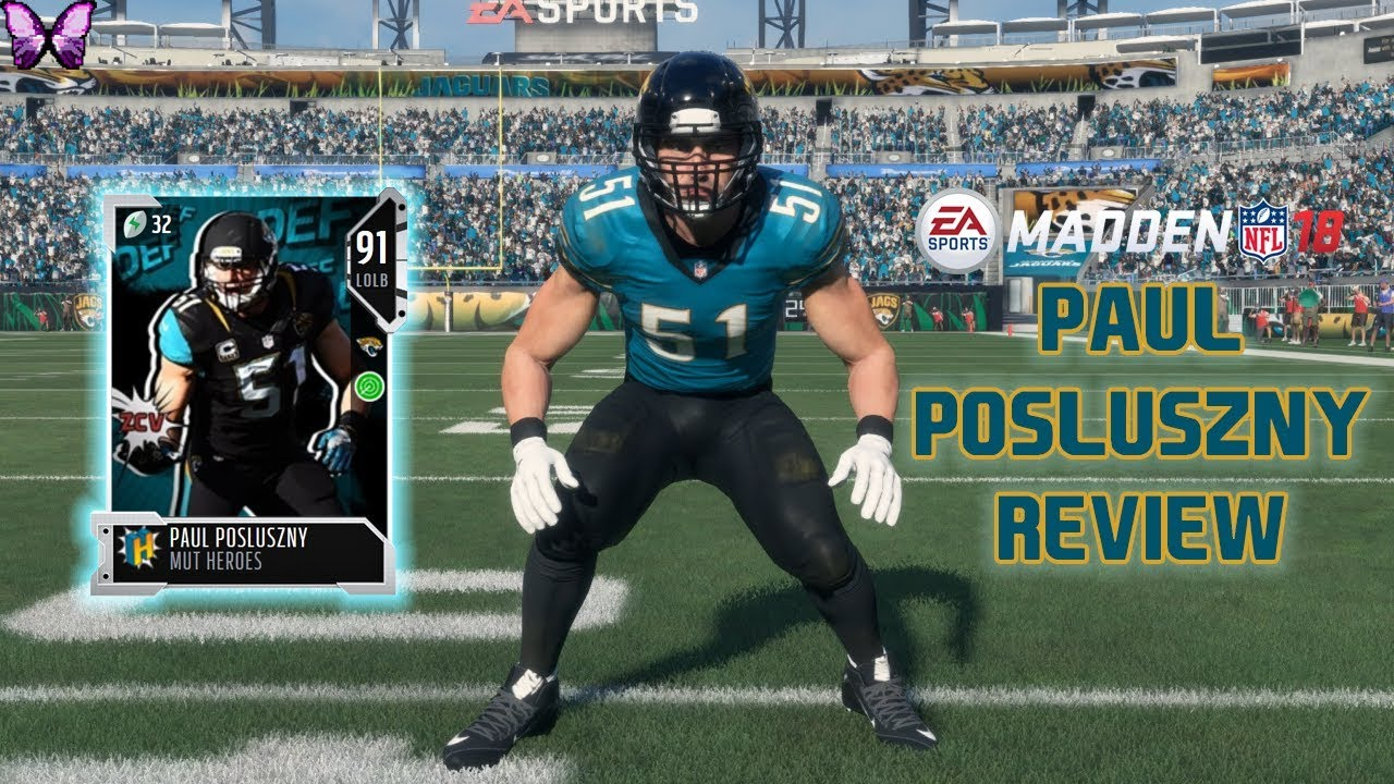 MUT HEROES PAUL POSLUSZNY REVIEW