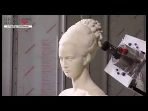 Beautiful Lady statue carved by Robotic Sculpture Making Machine