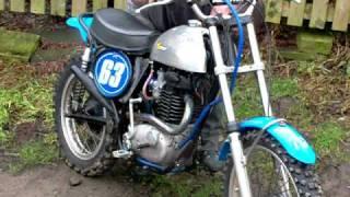 bsa victor motocross running on old fuel