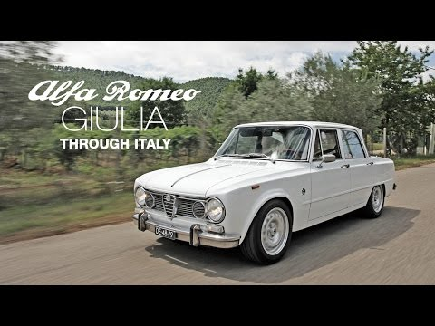 1972 Alfa Romeo Giulia Super through Italy