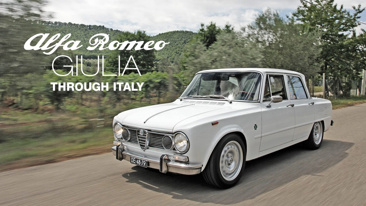Alfa Romeo Giulia Super Through Italy YouTube - Alfa romeo giulia 1972