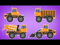 Transformer | dump truck |  concrete mixer | bulldozer |  Videos For Children