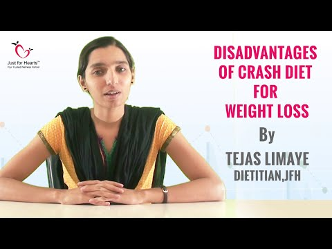 Does A CRASH DIET PLAN Work For Weight Loss?