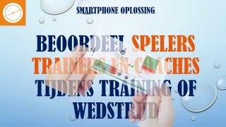 Smartphone voetbal spelervolgsysteem