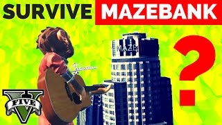 CAN U SURVIVE JUMPING FROM MAZEBANK ? || The Tallest Building in GTA 5