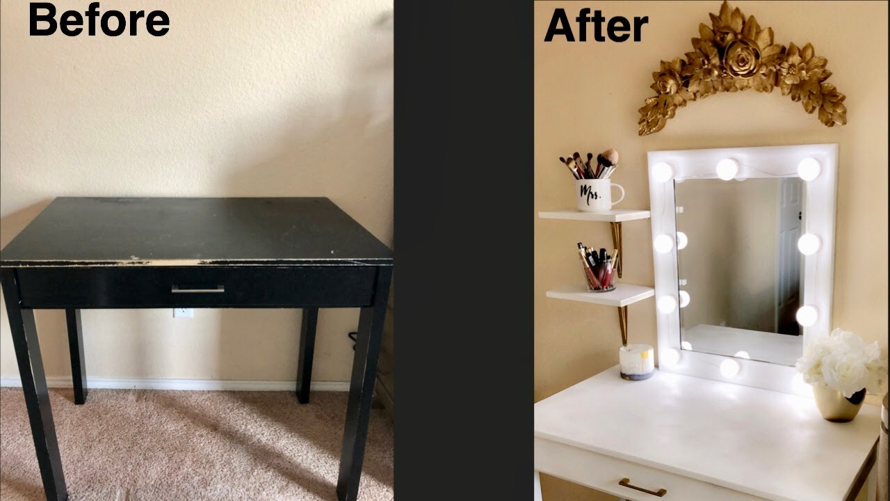 How To Make Your Own Vanity Diy Vanity Youtube