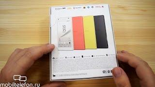 Распаковка Sony Xperia Z5 Compact в желтом цвете (unboxing)