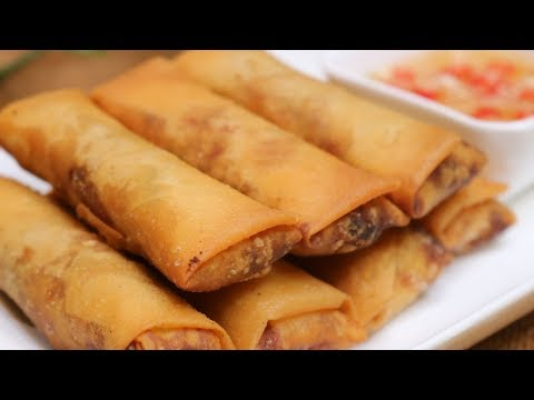 BETTER THAN TAKEOUT AND EASY - Chinese Egg Roll [炸春卷]