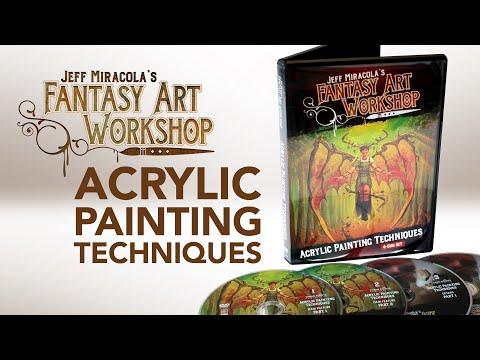 Jeff Miracola's Fantasy Art workshop Acrylic Painting Techniques DVDs