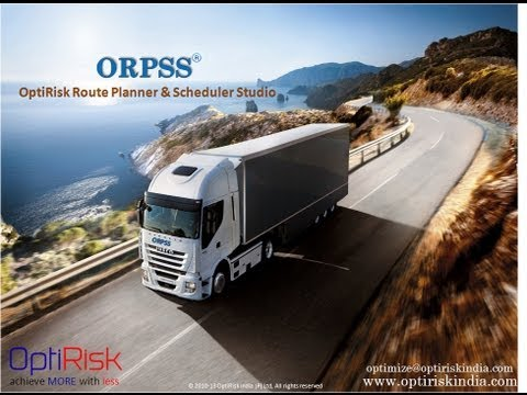 OptiRisk Route Planner and Scheduler Studio (ORPSS)