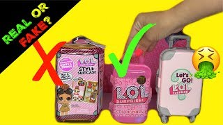 FAKE VS REAL lol surprise dolls LOL surprise Style Suitcase Boss Queen Gold Glitterati Ultra Rare