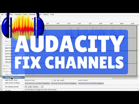 Fix Stereo Channel with only Left or Right Audio : Audacity Tutorial