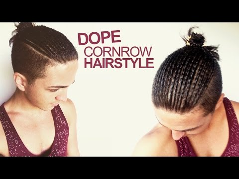dope cornrow hairstyle - men's