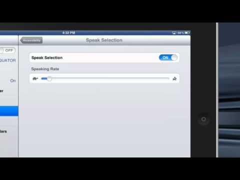 IPad tips- Read text selection aloud
