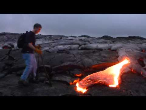 Hawaii Volcanos National Park and Playing With Lava