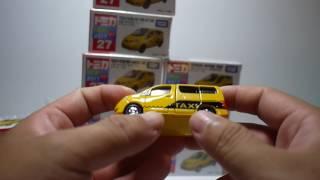 豪宅玩具~571~2017多美汽車節多美小汽車火柴盒小汽車TOMICA no.27 nissan NV200 NEW YORK CITY TAXI 計程車 初回 一版
