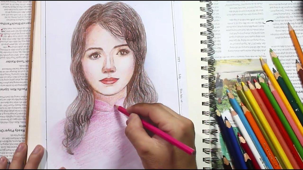Học vẽ chân dung cô giáo mừng ngày 20-11 / NC Plan