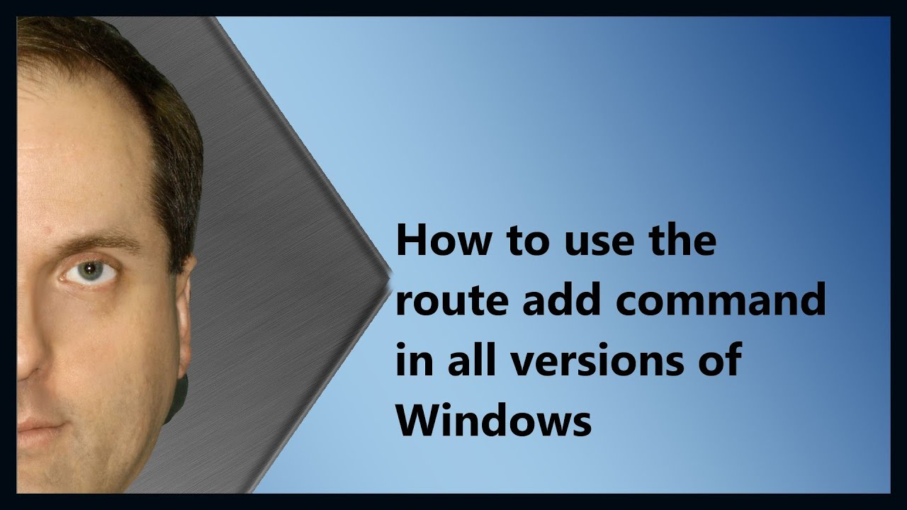 Route Add Windows