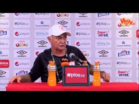 Rueda de prensa de 'pecoso' Castro tras el empate contra Santa Fe