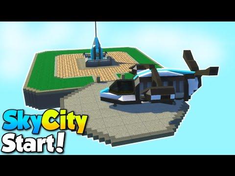 The Main platform! - SkyCity [EP. 2] - Scrap Mechanic Building Gameplay [STOPPED]