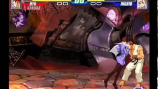 Capcom Fighting Evolution (PlayStation 2) Arcade as Ryu & Sakura