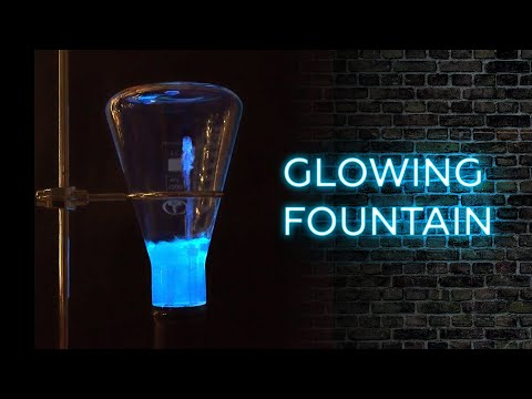 How To Make A Glowing Fountain Using Luminol And Hydrogen Peroxide