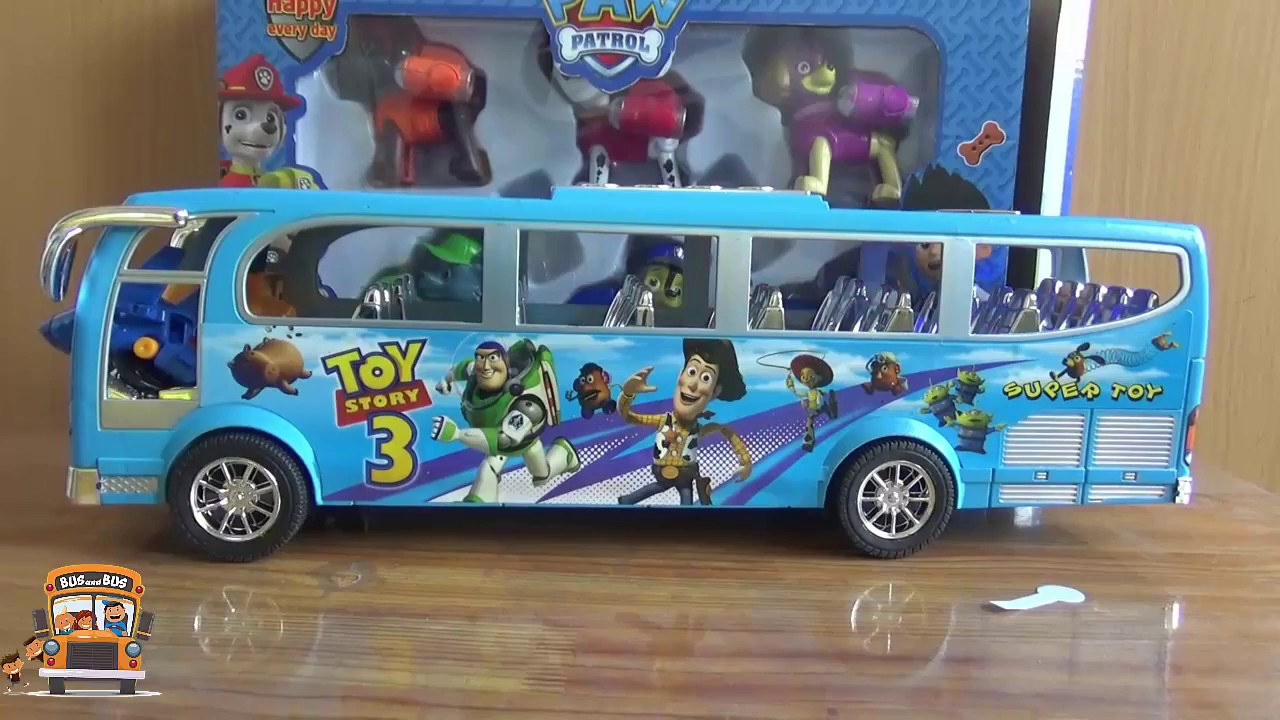 Power Wheels For Big Kids >> Big bus toys Bus toys compilation for kids Toys bus for ...