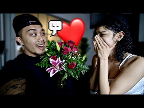 "Telling My Girlfriend ""I Love You"" For The First Time! 'CUTE REACTION'"
