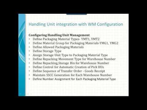 Handling Unit Management integration with WM Part 3