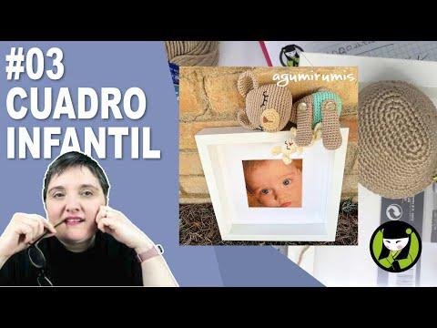 CUADRO INFANTIL AMIGURUMI 3 paso a paso