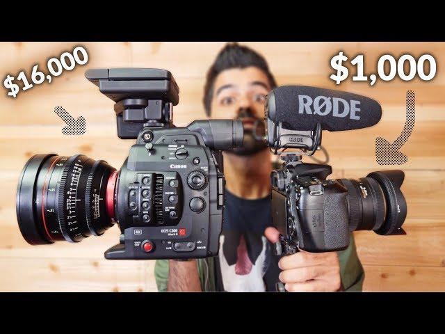 كاميرا 1,000$ vs كاميرا 16,000$    انسرقت في آخر الفيديو :(