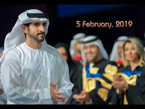 Hamdan bin Mohammed (فزاع Fazza) attends graduation ceremony at HBMSU (5.02)
